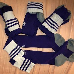 Lot of 4 adidas soccer socks